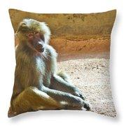 Teen Baboon Throw Pillow