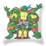 Teenage Mutant Ninja Turtles  Throw Pillow by Yael Rosen