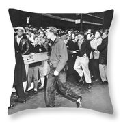 Teenage Rock 'n' Roll Fans Throw Pillow