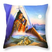 Teepee Of Dreams Throw Pillow