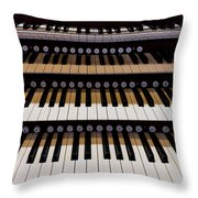 Teeth Of An Instrument Throw Pillow