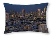 Tel Aviv At The Twilight Magic Hour Throw Pillow