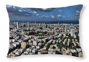 Tel Aviv Center Throw Pillow by Ron Shoshani