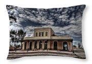 Tel Aviv First Railway Station Throw Pillow by Ron Shoshani