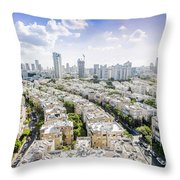 Tel Aviv Israel Elevated View Throw Pillow