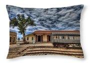 Tel Aviv Old Railway Station Throw Pillow