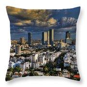 Tel Aviv Skyline Fascination Throw Pillow