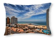 Tel Aviv Summer Time Throw Pillow by Ron Shoshani