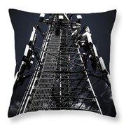Telecommunications Tower Throw Pillow