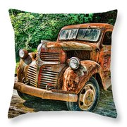 Telegraph Cove Dodge Pickup Throw Pillow