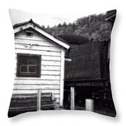 Telegraphing Home Throw Pillow