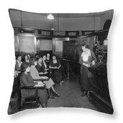 Telephone Exchange, 1915 Throw Pillow