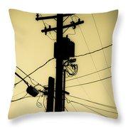 Telephone Pole 2 Throw Pillow