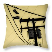 Telephone Pole And Sneakers 1 Throw Pillow