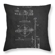 Telescope Telemeter Patent From 1916 - Charcoal Throw Pillow