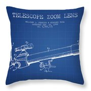 Telescope Zoom Lens Patent From 1999 - Blueprint Throw Pillow