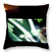 Television And Light  Throw Pillow
