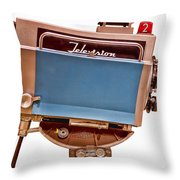 Television Studio Camera Hdr Throw Pillow by Edward Fielding