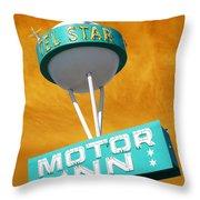Telstar Motor Inn - Orange Throw Pillow