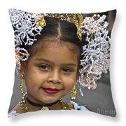 Tembleque Headdress Throw Pillow