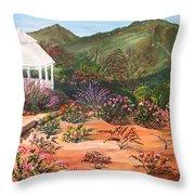 Temecula Heritage Rose Garden Throw Pillow