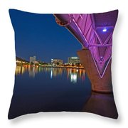 Tempe Light Rail Bridge Throw Pillow