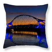 Tempe Town Lake At Sunset  Throw Pillow