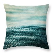 Tempest Ocean Landscape In Shades Of Teal Throw Pillow