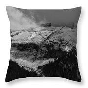 Tempest On Teapot Mountain Throw Pillow