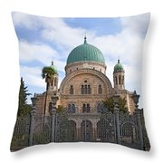 Tempio Maggiore  The Great Synagogue Of Florence Throw Pillow