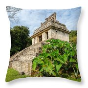 Temple And Foliage Throw Pillow
