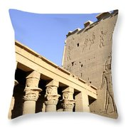 Temple At Philae In Egypt Throw Pillow