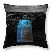 Temple Bell - Buddhist Photography By William Patrick And Sharon Cummings  Throw Pillow