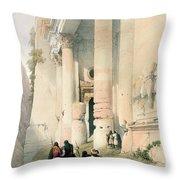 Temple Called El Khasne Throw Pillow