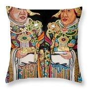 Temple Doors 01 Throw Pillow