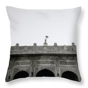 Temple Elegance Throw Pillow