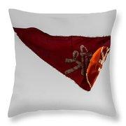 Temple Flag Throw Pillow