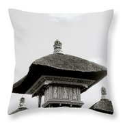Temple In Ubud Throw Pillow