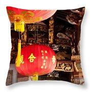 Temple Lanterns 01 Throw Pillow