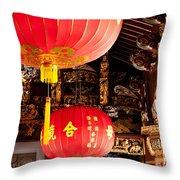 Temple Lanterns 02 Throw Pillow