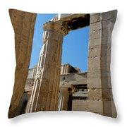 Temple Maze Of Columns Throw Pillow