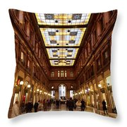 Temple Of Commerse Throw Pillow