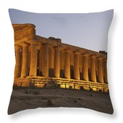 Temple Of Concordia In The Valley Of Throw Pillow