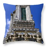 Temple Of Dawn Tower Throw Pillow