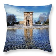 Temple Of Debod Throw Pillow