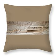Temple Of Hatsepsut In Egypt Throw Pillow