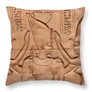 Temple Of Horus Relief Throw Pillow by Stephen & Donna O'Meara
