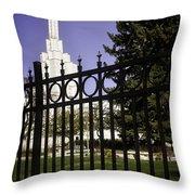 Temple Of Idaho Falls Throw Pillow