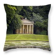 Temple Of Piety Throw Pillow