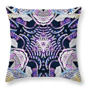 Temple Of Simha Throw Pillow by Derek Gedney